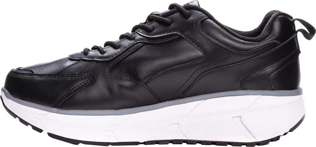Men's Propet Ultra Sneaker, Black Leather, large, image 3