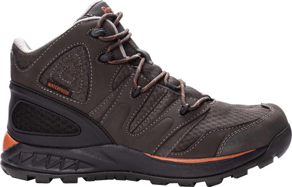 Men's Propet Veymont Waterproof Hiking Boot, Gunsmoke/Orange Nubuck/Mesh, large, image 2