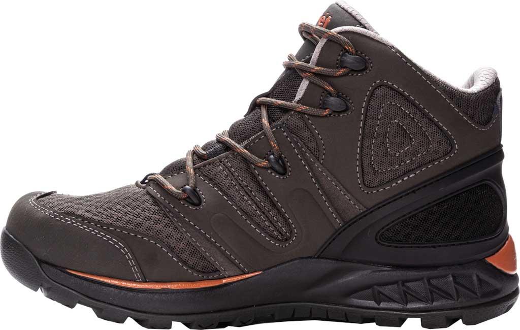 Men's Propet Veymont Waterproof Hiking Boot, Gunsmoke/Orange Nubuck/Mesh, large, image 3