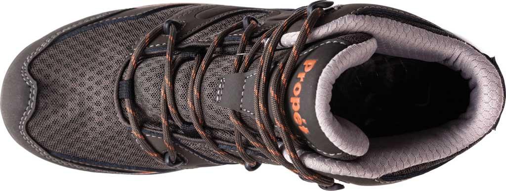 Men's Propet Veymont Waterproof Hiking Boot, Gunsmoke/Orange Nubuck/Mesh, large, image 4