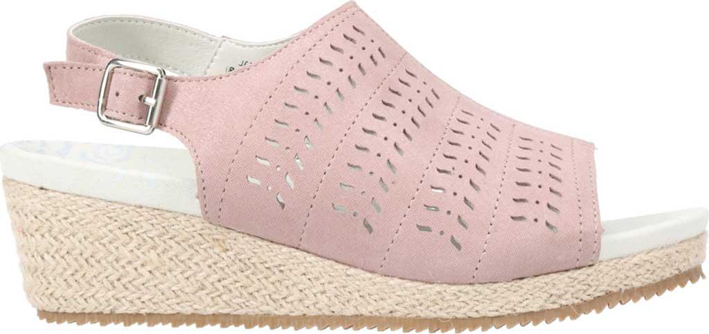 Women's Propet Marlo Espadrille Wedge Sandal, Pink Blush Sheepskin, large, image 2