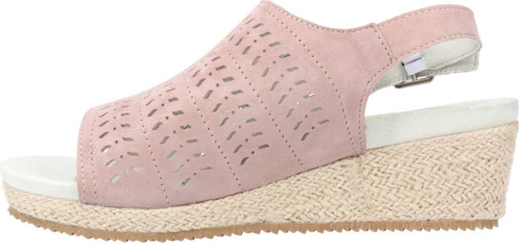 Women's Propet Marlo Espadrille Wedge Sandal, Pink Blush Sheepskin, large, image 3