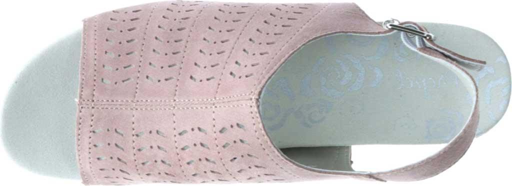 Women's Propet Marlo Espadrille Wedge Sandal, Pink Blush Sheepskin, large, image 4