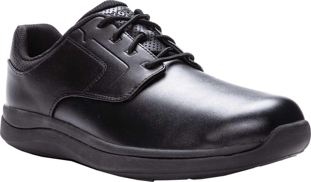 Men's Propet Pierson Oxford, Black Leatherette, large, image 1
