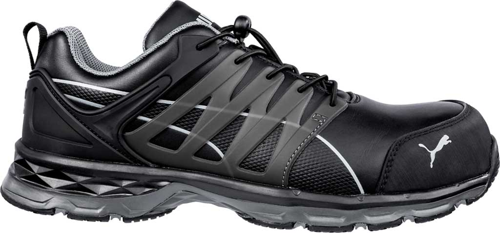 Men's PUMA Safety Shoes Velocity Low 2.0 SD Leather Work Shoe, Black, large, image 1