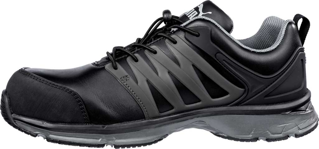 Men's PUMA Safety Shoes Velocity Low 2.0 SD Leather Work Shoe, Black, large, image 2
