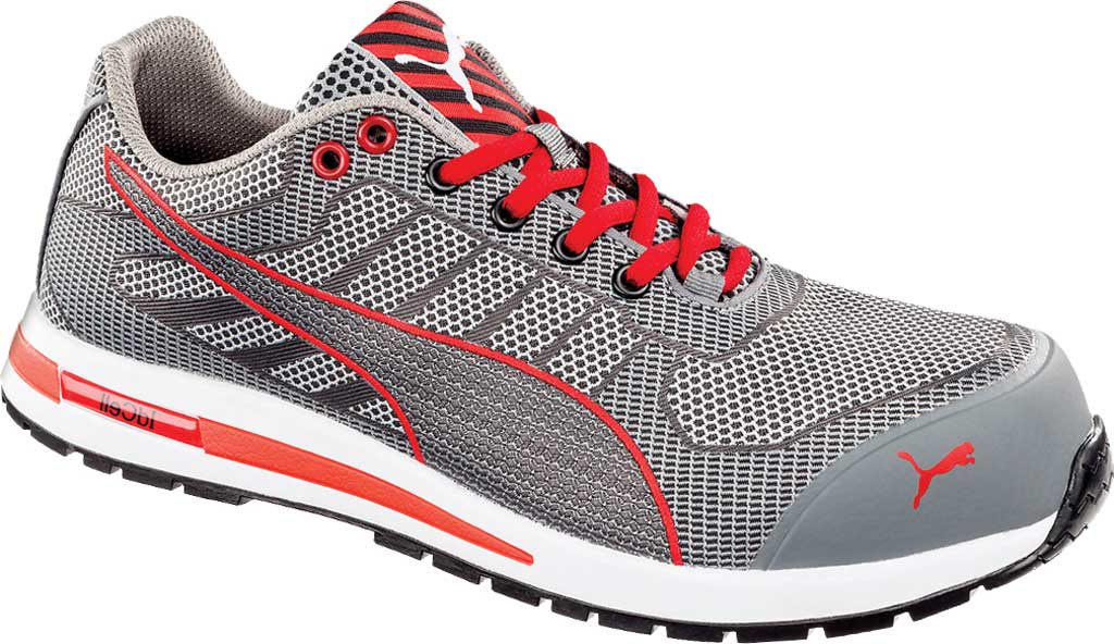 Men's PUMA Safety Shoes Xelerate Knit Low EH Work Shoe, Gray, large, image 1