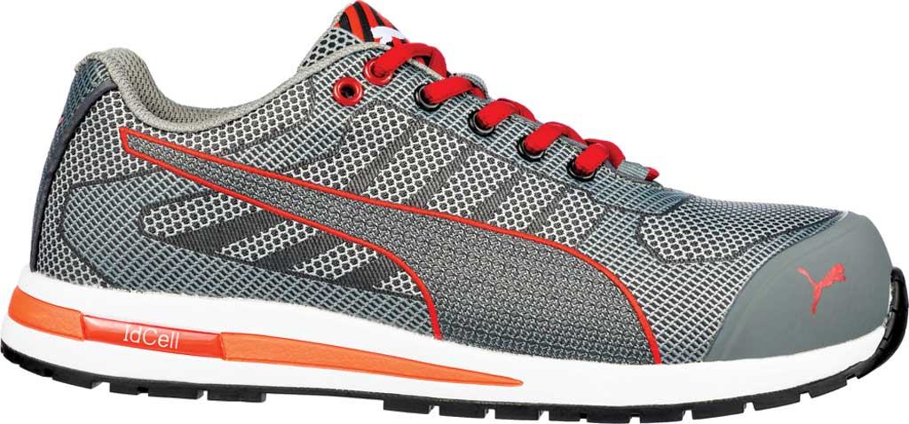 Men's PUMA Safety Shoes Xelerate Knit Low EH Work Shoe, Gray, large, image 2