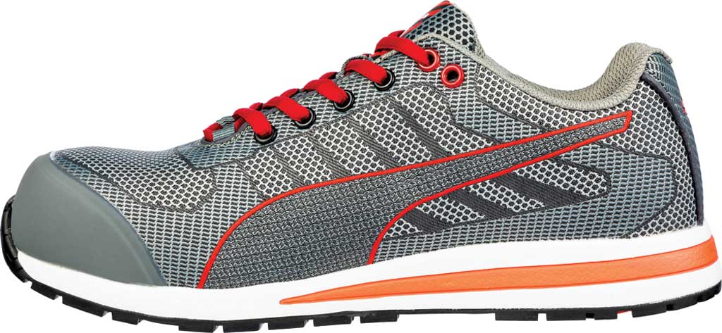 Men's PUMA Safety Shoes Xelerate Knit Low EH Work Shoe, Gray, large, image 3