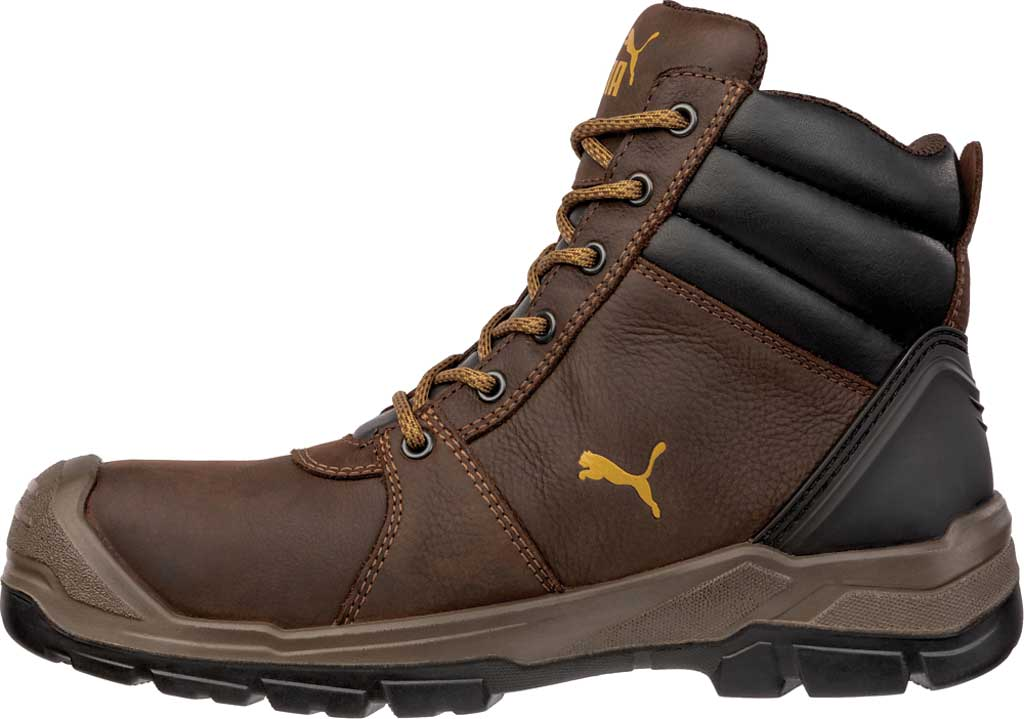 Men's PUMA Safety Shoes Tornado EH CTX Waterproof Mid Work Boot, Brown, large, image 2