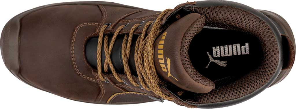 Men's PUMA Safety Shoes Tornado EH CTX Waterproof Mid Work Boot, Brown, large, image 4