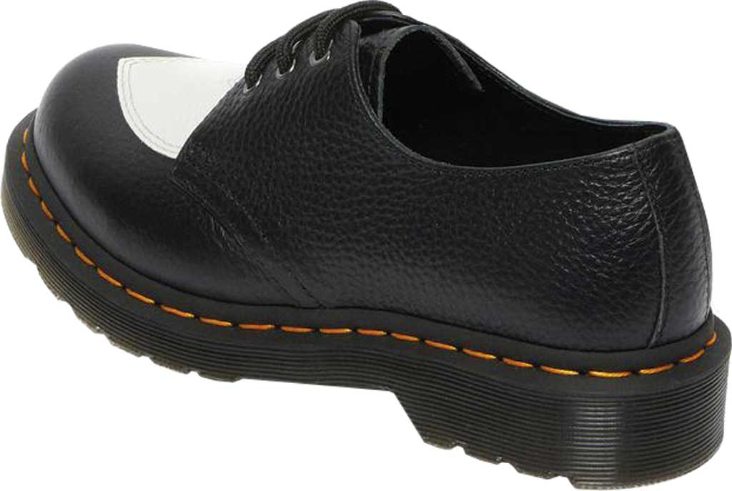 Women's Dr. Martens 1461 Amore 3-Eye Oxford, Black/White Milled Nappa Leather, large, image 3