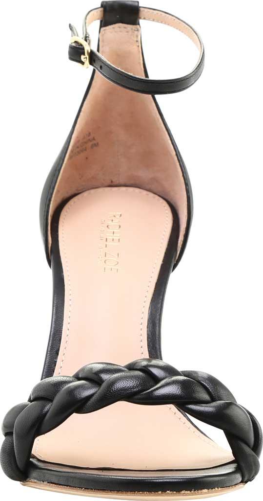 Women's Rachel Zoe Ashton Braided Nappa Leather Ankle Strap Sandal, Black Nappa, large, image 3