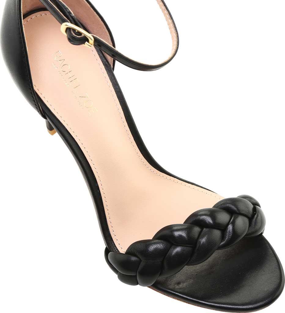 Women's Rachel Zoe Ashton Braided Nappa Leather Ankle Strap Sandal, Black Nappa, large, image 4
