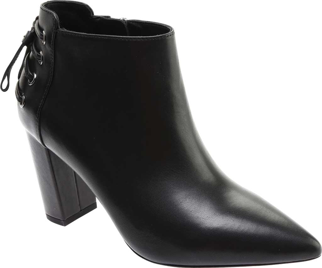Women's Rachel Zoe Trixie Pointed Toe Leather Bootie, Black Nappa Leather, large, image 1