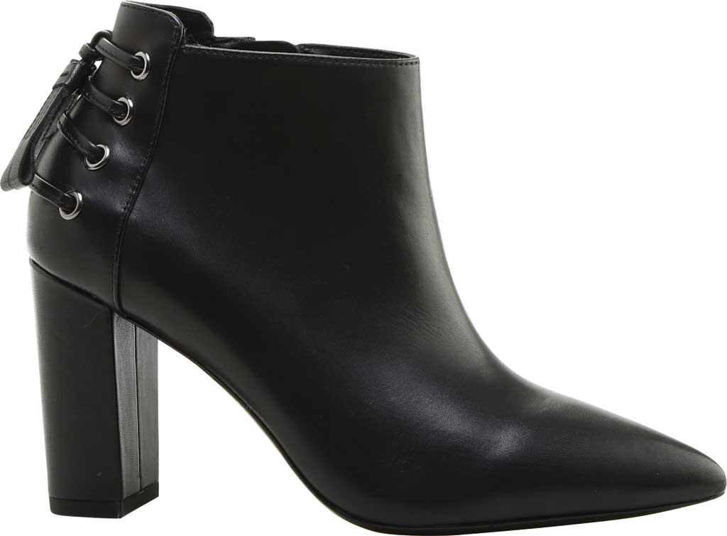 Women's Rachel Zoe Trixie Pointed Toe Leather Bootie, Black Nappa Leather, large, image 2