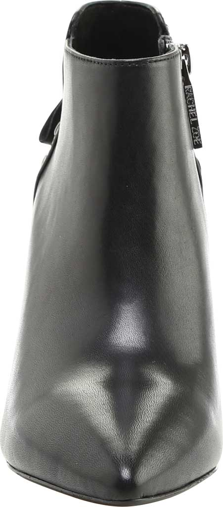 Women's Rachel Zoe Trixie Pointed Toe Leather Bootie, Black Nappa Leather, large, image 3