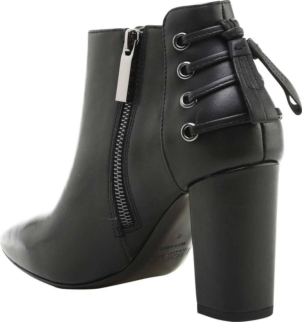 Women's Rachel Zoe Trixie Pointed Toe Leather Bootie, Black Nappa Leather, large, image 4
