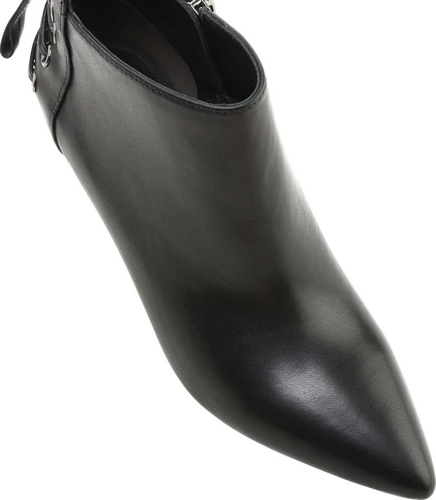 Women's Rachel Zoe Trixie Pointed Toe Leather Bootie, Black Nappa Leather, large, image 5