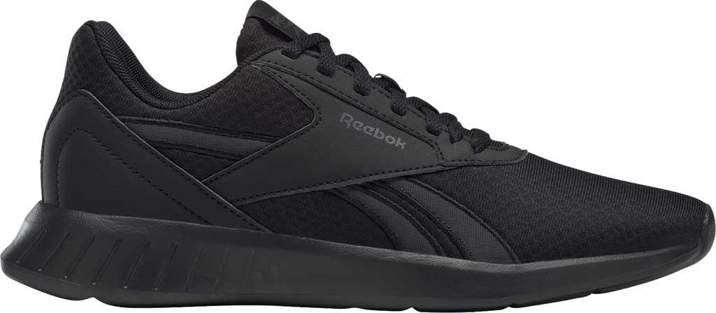 Women's Reebok Lite 2.0 Running Sneaker, Black/Black/True Grey, large, image 2