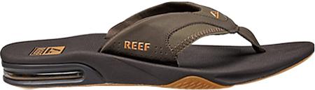 Men's Reef Fanning Original, Brown/Gum with Logo, large, image 2
