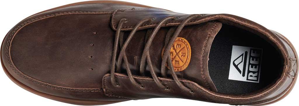 Men's Reef Spiniker Mid NB, Chocolate/Gum Full Grain Leather, large, image 3