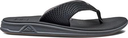 Men's Reef Rover Thong Sandal, Black, large, image 2