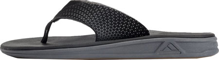 Men's Reef Rover Thong Sandal, Black, large, image 3