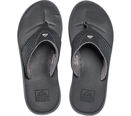 Men's Reef Rover Thong Sandal, Black, large, image 4