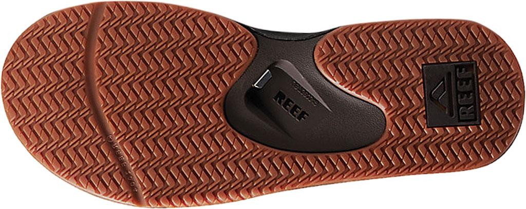 Men's Reef Fanning Leather Thong Sandal, Brown, large, image 3