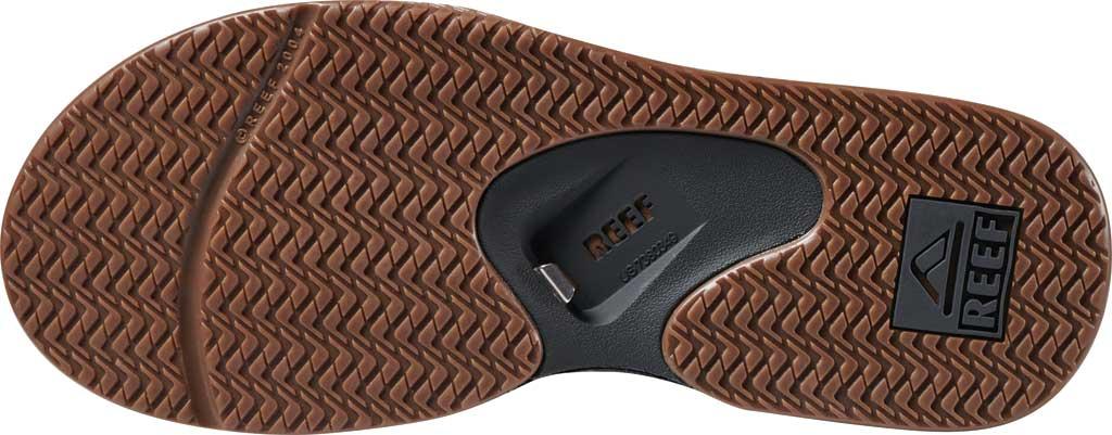 Men's Reef Fanning Leather Thong Sandal, Brown, large, image 5