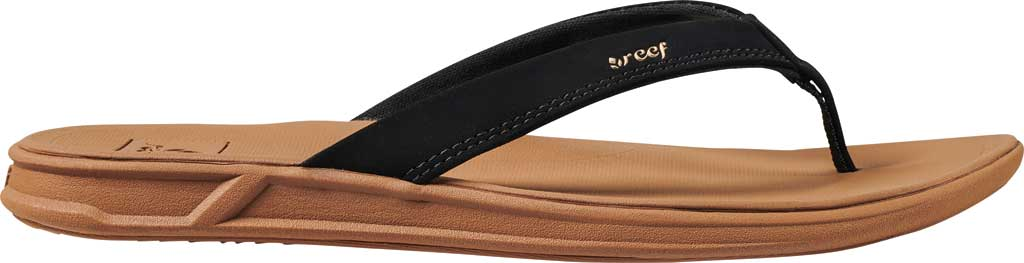 Women's Reef Rover Catch Thong Sandal, Black/Tan Synthetic, large, image 2