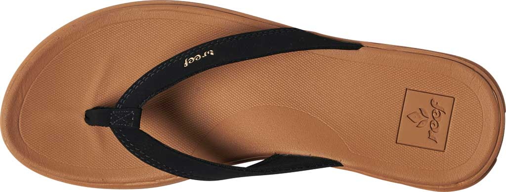 Women's Reef Rover Catch Thong Sandal, Black/Tan Synthetic, large, image 3
