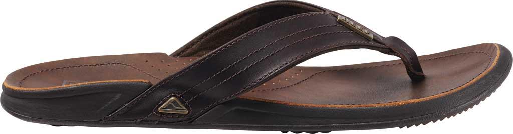 Men's Reef J-Bay III Thong Sandal, Dark Brown Full Grain Leather, large, image 2