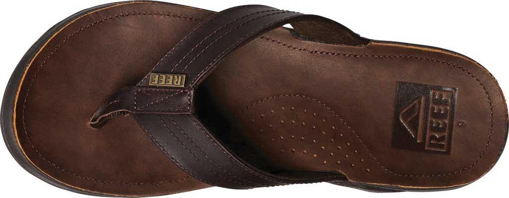 Men's Reef J-Bay III Thong Sandal, Dark Brown Full Grain Leather, large, image 3