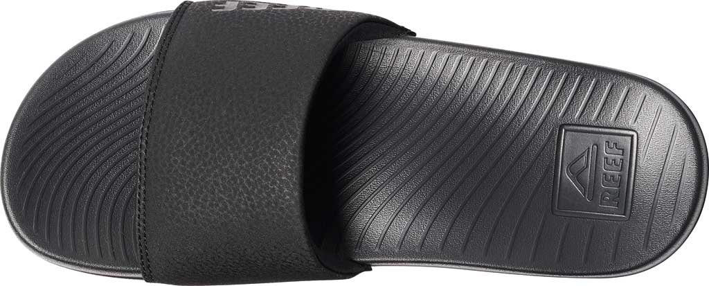 Women's Reef One Beach Slide, Black Synthetic, large, image 3