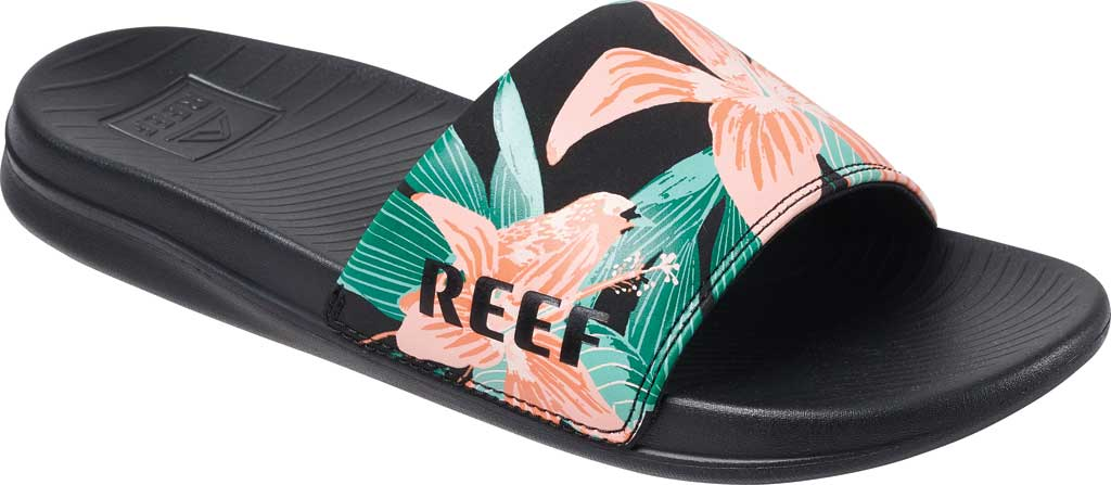 Women's Reef One Beach Slide, Hibiscus Synthetic, large, image 1