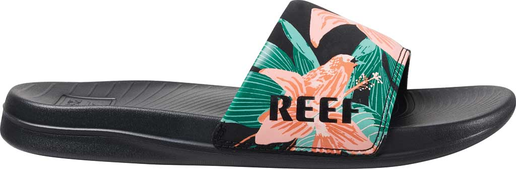 Women's Reef One Beach Slide, Hibiscus Synthetic, large, image 2