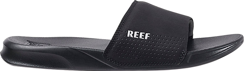 Men's Reef One Beach Slide, Black Synthetic, large, image 2