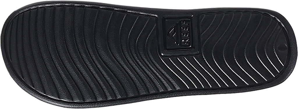 Men's Reef One Beach Slide, Black Synthetic, large, image 3