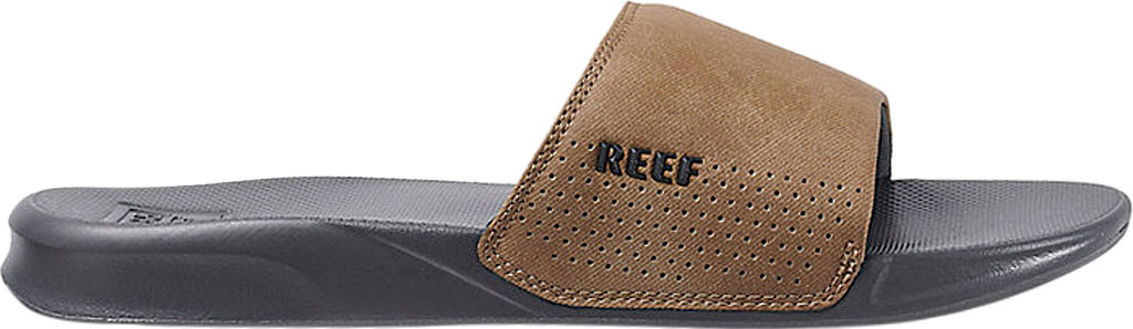 Men's Reef One Beach Slide, Grey/Tan Synthetic, large, image 2