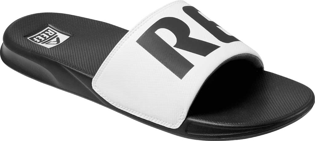 Men's Reef One Beach Slide, Grey/White Synthetic, large, image 1