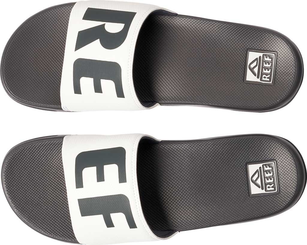 Men's Reef One Beach Slide, Grey/White Synthetic, large, image 3