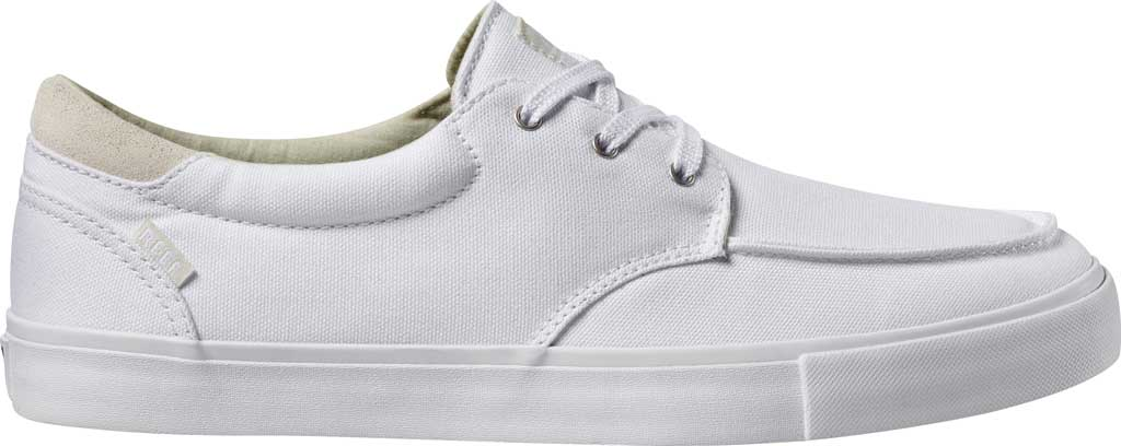 Men's Reef Deckhand 3 Sneaker, White/White Canvas/Suede Collar, large, image 2