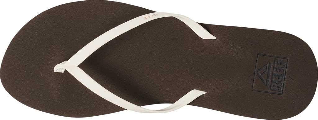 Women's Reef Bliss Nights Vegan Flip Flop, Brown/White Vegan Leather, large, image 2