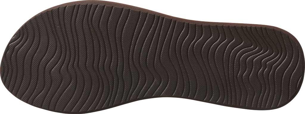Women's Reef Bliss Nights Vegan Flip Flop, Brown/White Vegan Leather, large, image 3