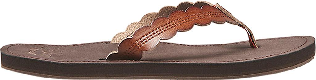 Women's Reef Cushion Celine Vegan Flip Flop, Rust Vegan Leather, large, image 2