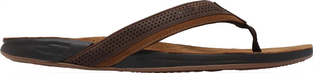 Men's Reef J-Bay Perf Waterproof Flip Flop, Java/Caramel Full Grain Leather, large, image 2