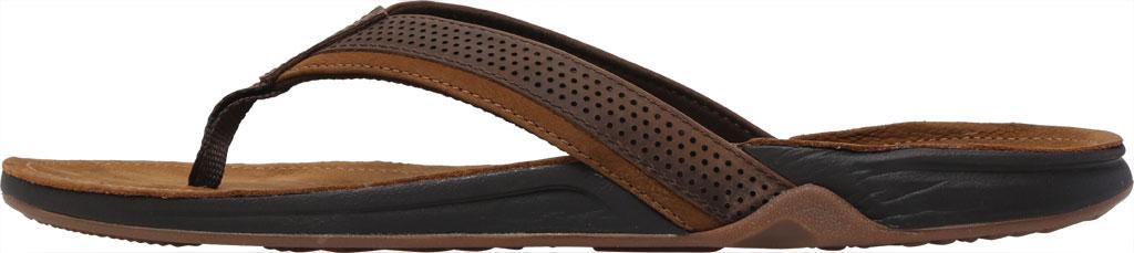 Men's Reef J-Bay Perf Waterproof Flip Flop, Java/Caramel Full Grain Leather, large, image 3