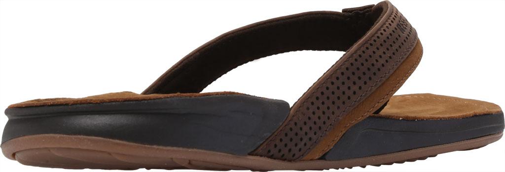 Men's Reef J-Bay Perf Waterproof Flip Flop, Java/Caramel Full Grain Leather, large, image 4